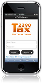 mobile version of tax2290 application
